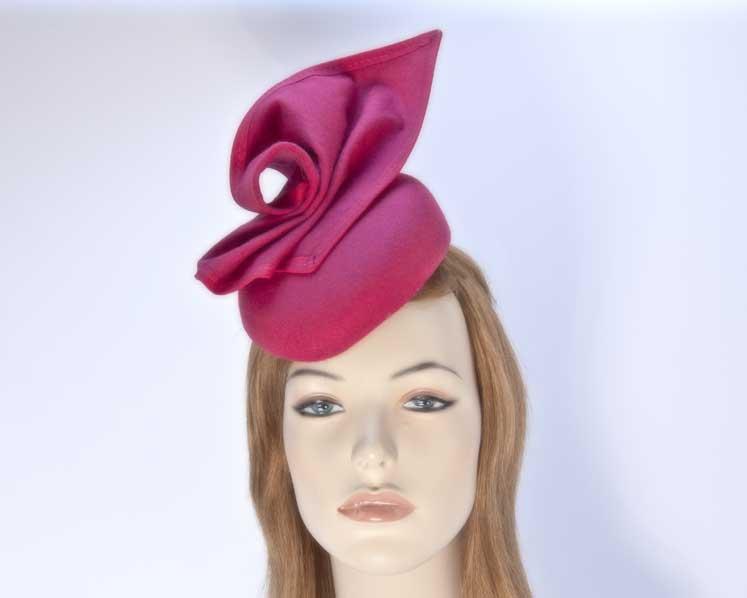 Fuchsia pillbox hat for winter autumn racing — buy online in Australia F540F
