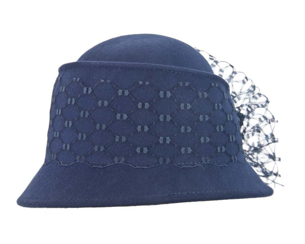 Navy ladies winter fashion felt hat buy online in Australia F569N