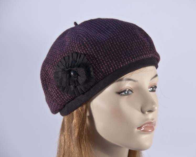 Fuchsia woman fashion beret hat Max Alexander J226F