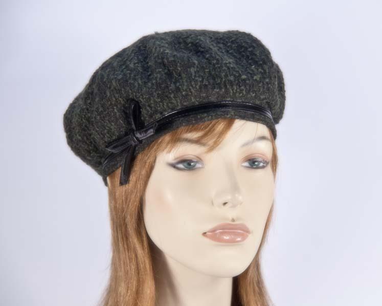 Olive winter ladies fashion beret hat Max Alexander J250O