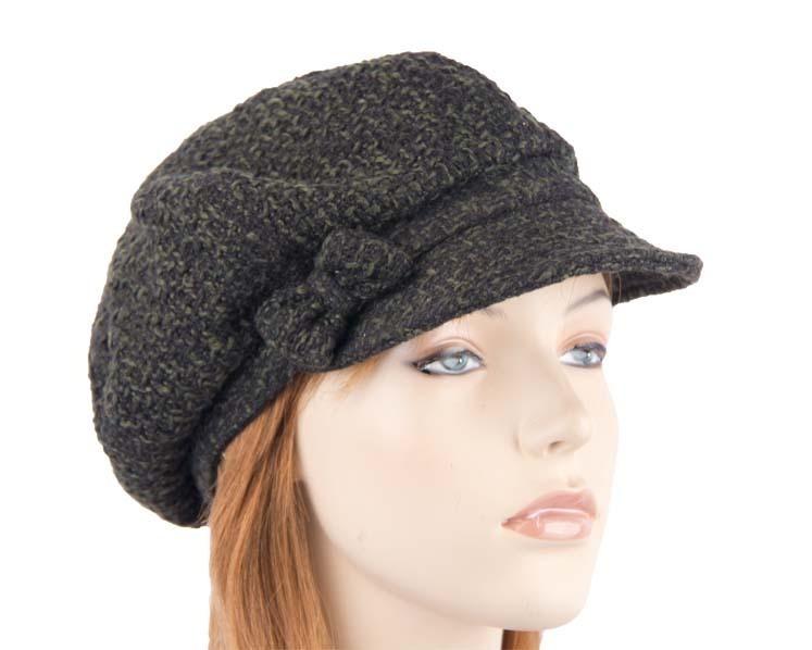Olive winter ladies fashion newsboy beret hat Max Alexander J251O