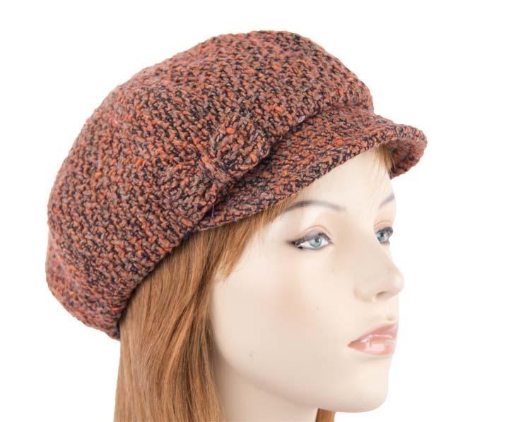 Rust winter ladies fashion newsboy beret hat Max Alexander J251R