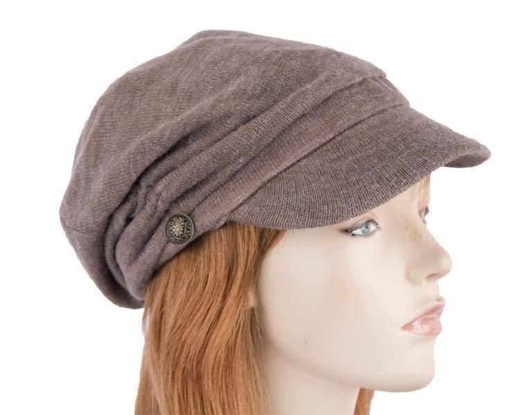 Grey winter ladies fashion newsboy beret hat Max Alexander J266G