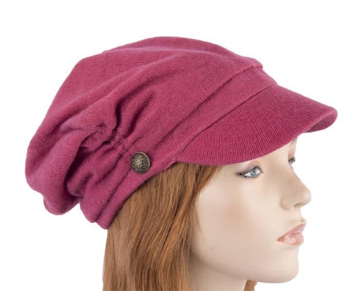 Raspberry winter ladies fashion newsboy beret hat Max Alexander J266R