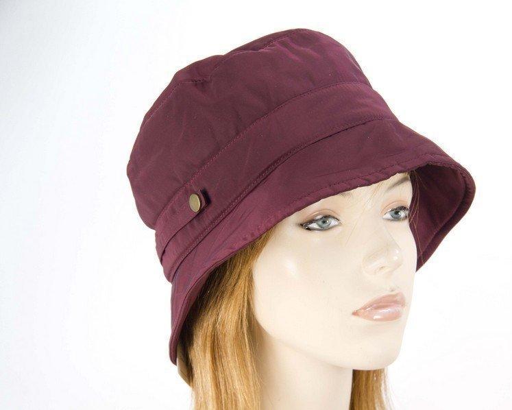 Burgundy casual weatherproof bucket golf hat
