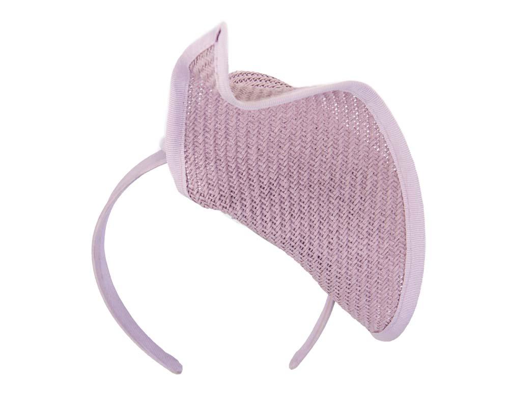 Lilac fashion pillbox fascinator hat for races Max Alexander MA564L