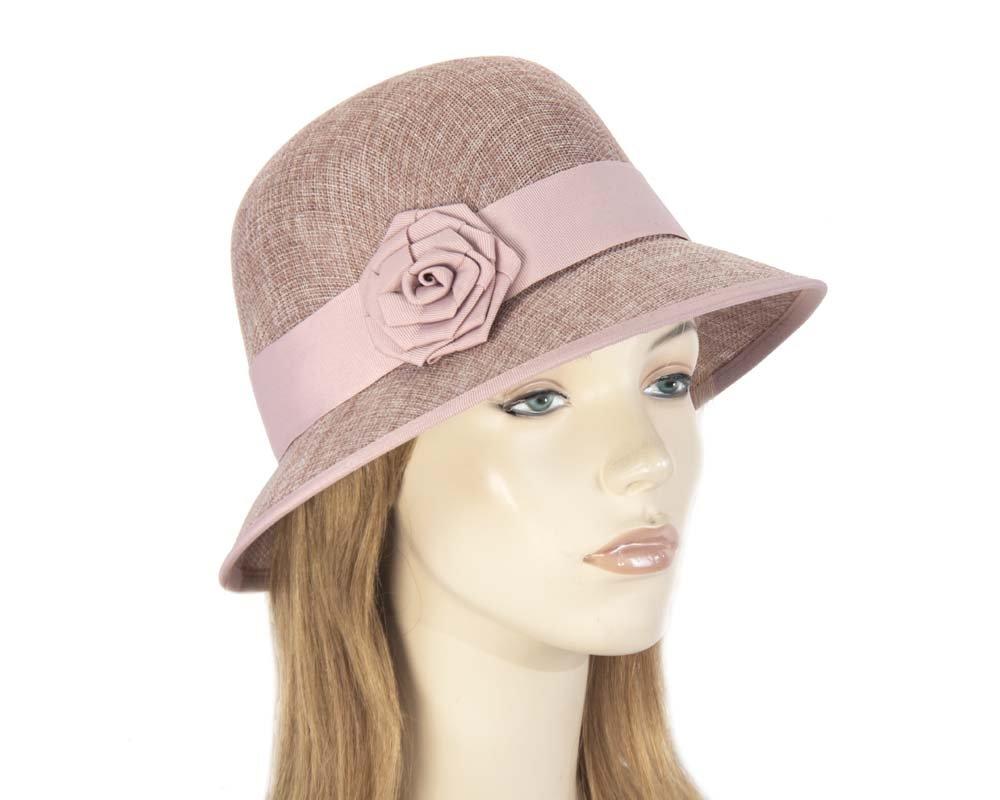 Dusty Pink cloche hat