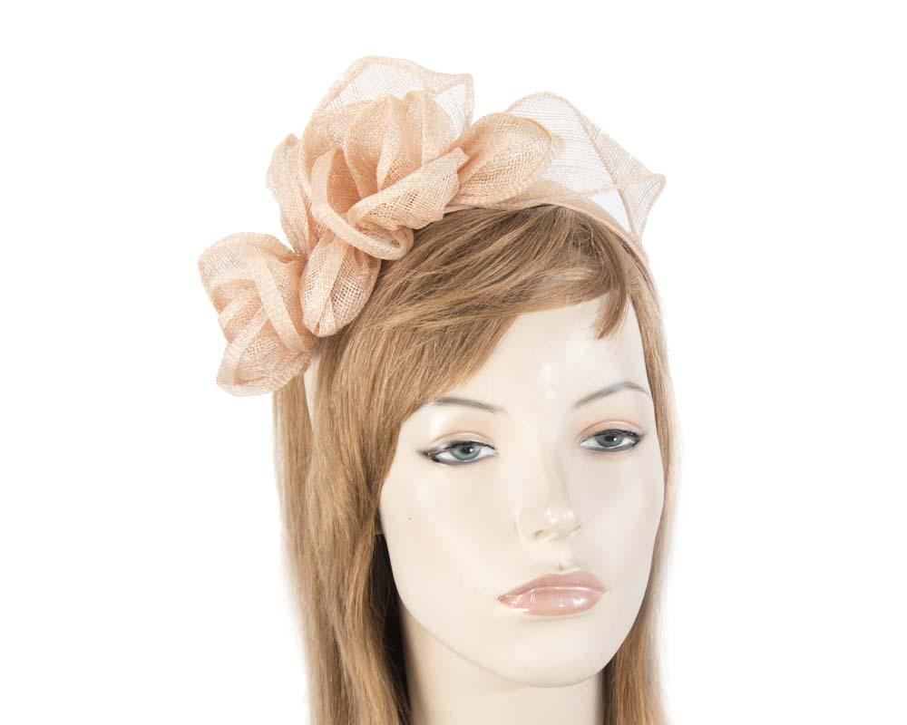 Nude sinamay flower crown