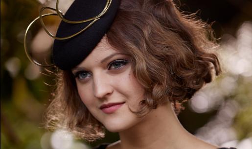 Unique navy ladies winter felt fashion hat