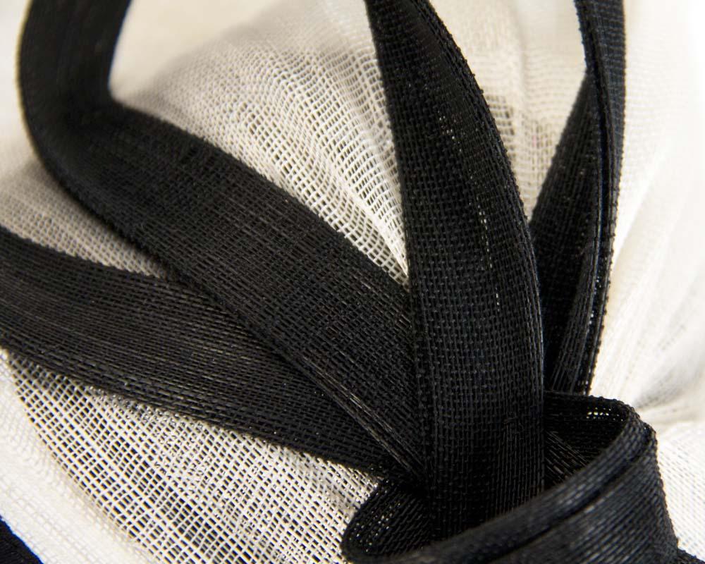 Twisted cream & black fascinator
