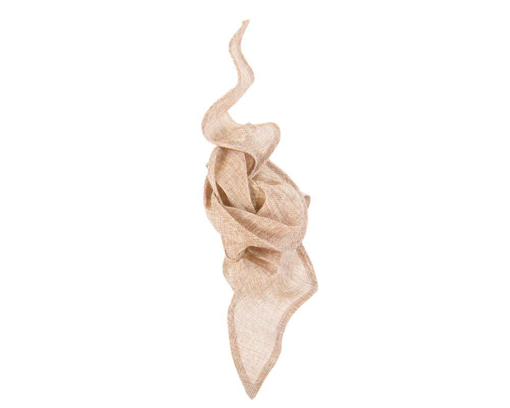 Nude linen constructed fascinator