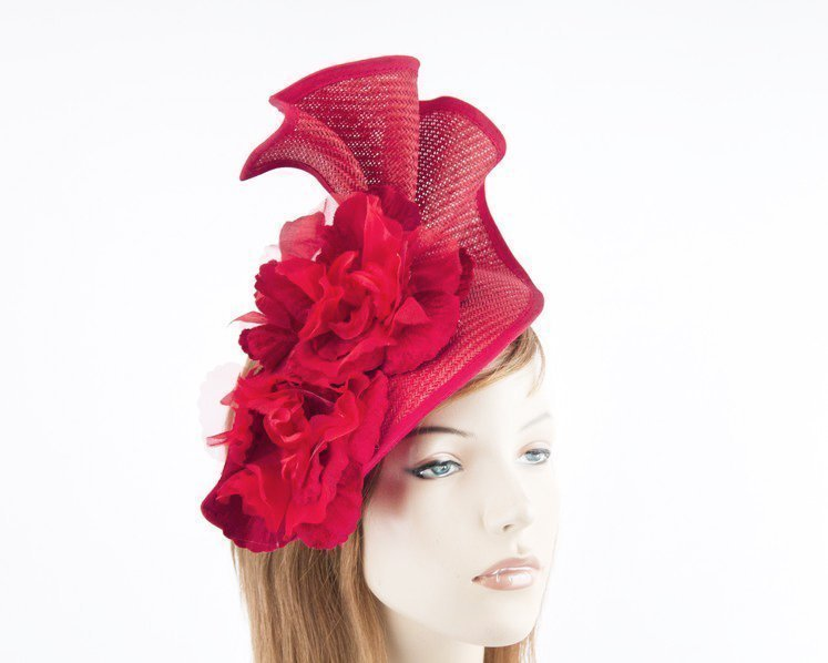 Red Melbourne Cup races fascinator by Fillies Collection S162R