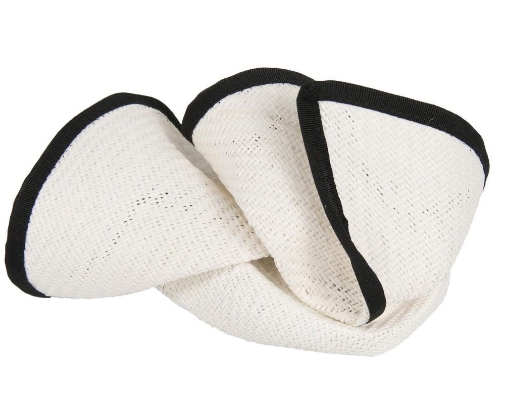 Elegant white & black pillbox fascinator