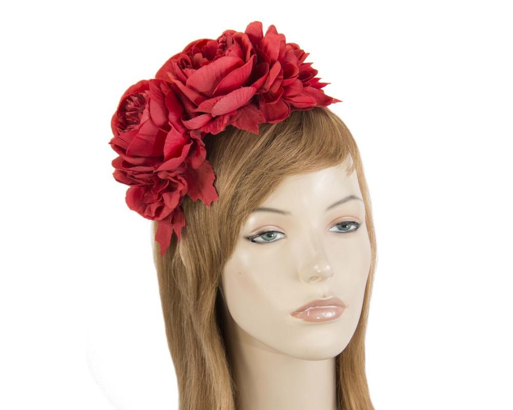 Red flower headband by Max Alexander