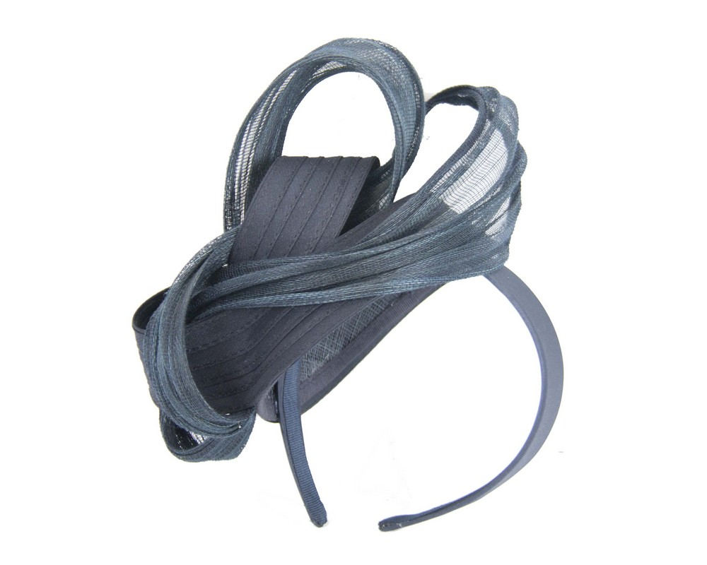 Fancy navy racing fascinator by Fillies Collection