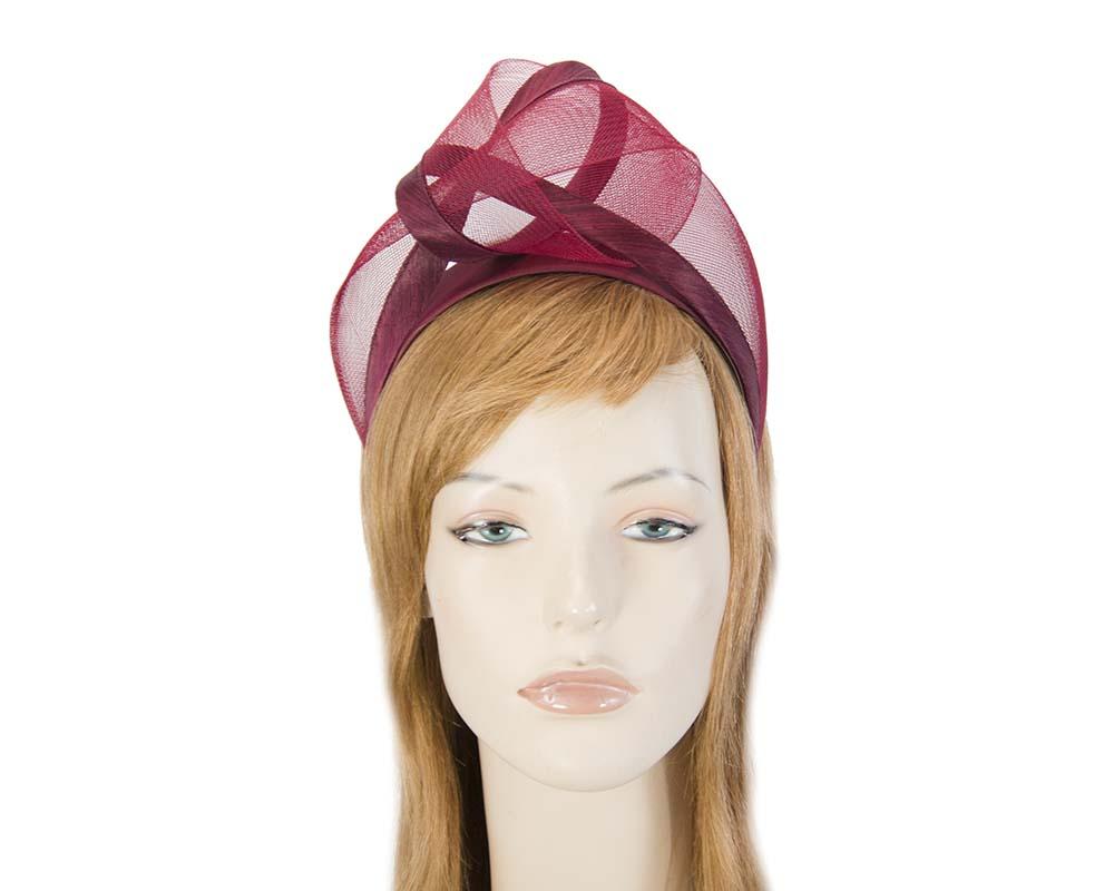 Burgundy fashion headband turban by Fillies Collection