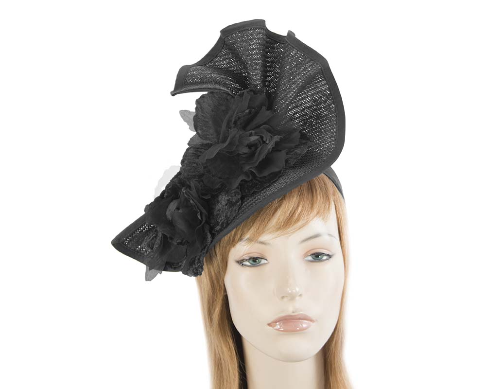 Black Melbourne Cup races fascinator by Fillies Collection S162B