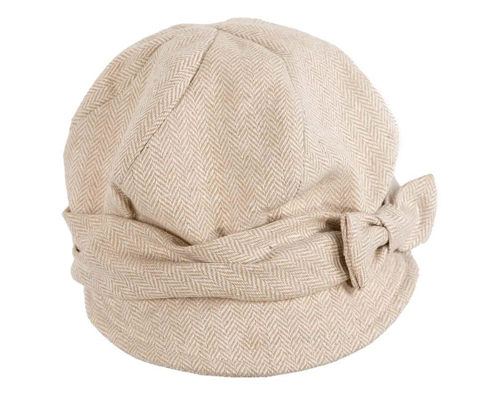 Beige winter ladies fashion newsboy beret hat Max Alexander